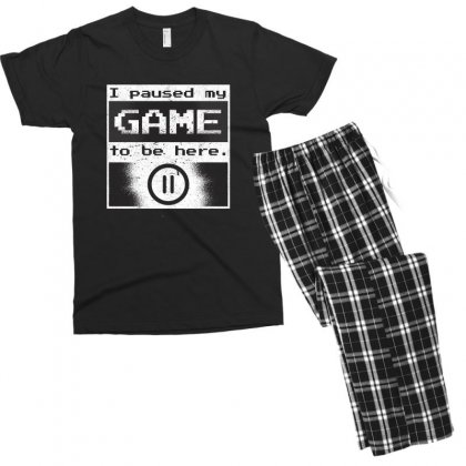 Gamer Men's T-shirt Pajama Set Designed By Disgus_thing