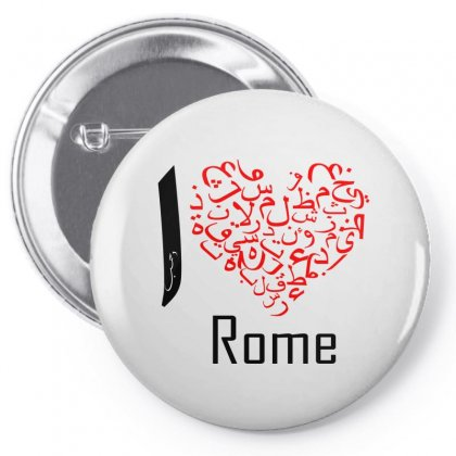 I Love Rome Pin-back Button Designed By Nowlam
