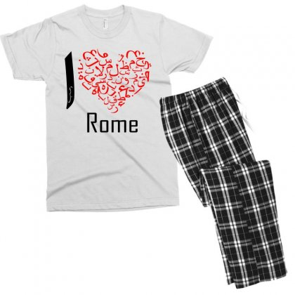 I Love Rome Men's T-shirt Pajama Set Designed By Nowlam