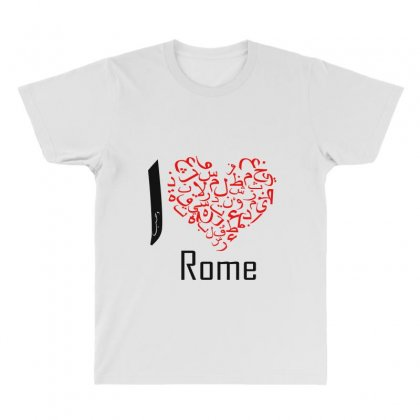 I Love Rome All Over Men's T-shirt Designed By Nowlam