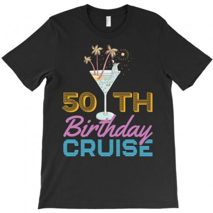 50th Birthday Cruise T-shirt Designed By Omer Acar