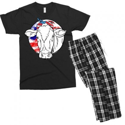 American Cow Men's T-shirt Pajama Set Designed By Omer Acar