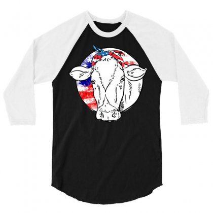 American Cow 3/4 Sleeve Shirt Designed By Omer Acar