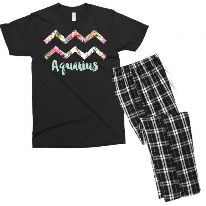 Aquarius Zodiac Men's T-shirt Pajama Set Designed By Omer Acar