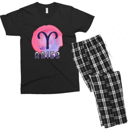Aries Zodiac Men's T-shirt Pajama Set Designed By Omer Acar