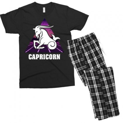 Capricorn Zodiac Men's T-shirt Pajama Set Designed By Omer Acar