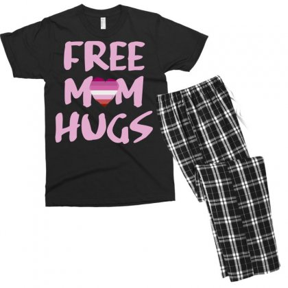 Free Mom Hug Bisexsual Men's T-shirt Pajama Set Designed By Omer Acar