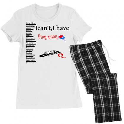 Ping Pong Women's Pajamas Set Designed By Nowlam