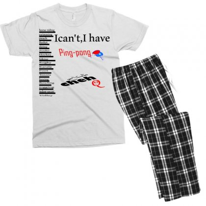 Ping Pong Men's T-shirt Pajama Set Designed By Nowlam