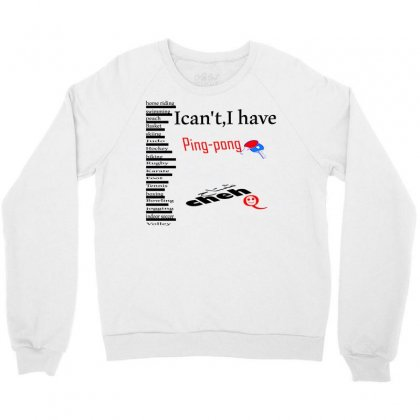 Ping Pong Crewneck Sweatshirt Designed By Nowlam