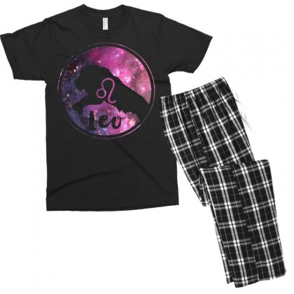 Leo Zodiac Men's T-shirt Pajama Set Designed By Omer Acar