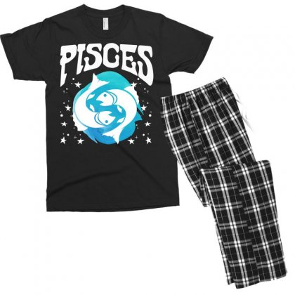 Pisces Zodiac Men's T-shirt Pajama Set Designed By Omer Acar