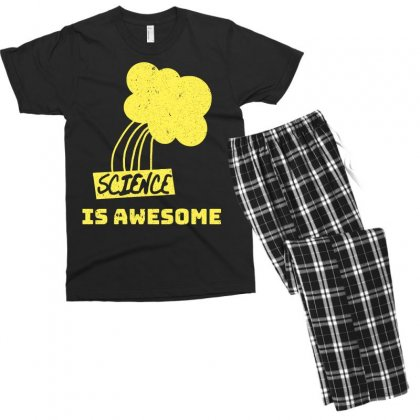 Science Is Awesome Men's T-shirt Pajama Set Designed By Omer Acar