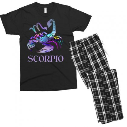 Scorpio Zodiac Men's T-shirt Pajama Set Designed By Omer Acar