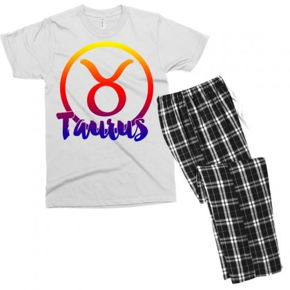 Taurus Zodiac Men's T-shirt Pajama Set Designed By Omer Acar