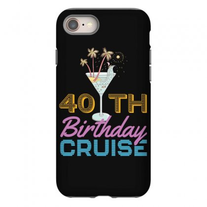 40th Birthday Cruise Iphone 8 Case Designed By Omer Acar