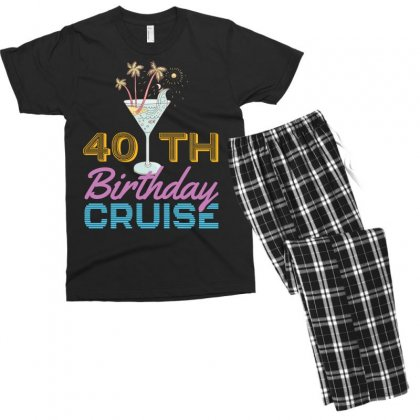40th Birthday Cruise Men's T-shirt Pajama Set Designed By Omer Acar