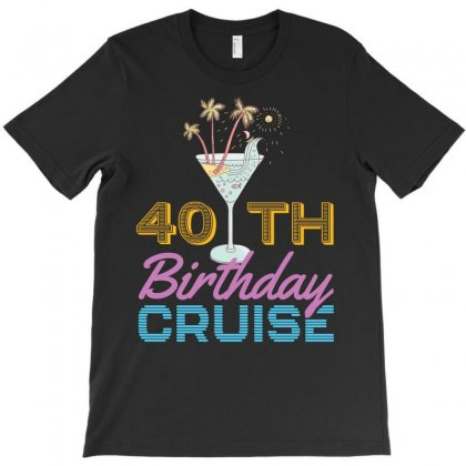40th Birthday Cruise T-shirt Designed By Omer Acar