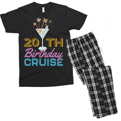 20th Birthday Cruise Men's T-shirt Pajama Set Designed By Omer Acar