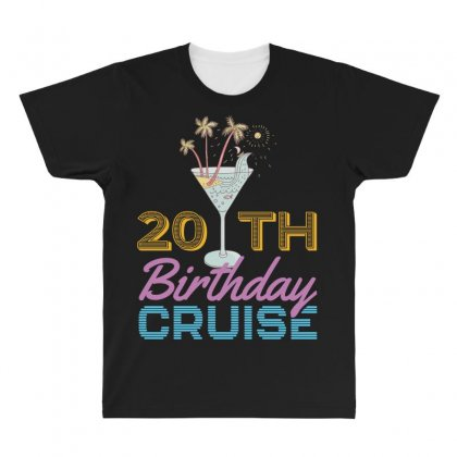 20th Birthday Cruise All Over Men's T-shirt Designed By Omer Acar