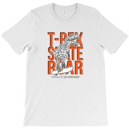T Rex Skateboarding T-shirt Designed By Disgus_thing