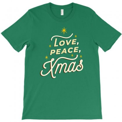 Love Peace Xmas T-shirt Designed By Disgus_thing