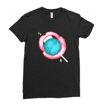Lollipop Ladies Fitted T-shirt Designed By Ukiyo.ao
