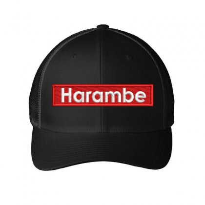 Harambe Hat Embroidered Mesh Cap Designed By Madhatter