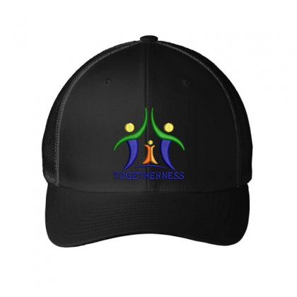 Togetherness Hat Embroidered Mesh Cap Designed By Madhatter