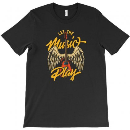 Let The Music Play T-shirt Designed By Emardesign