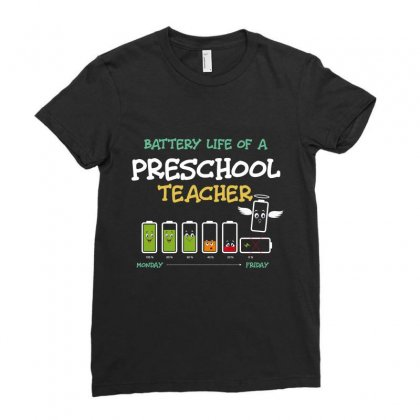Battery Life Of A Preschool Teacher Ladies Fitted T-shirt Designed By Wizarts
