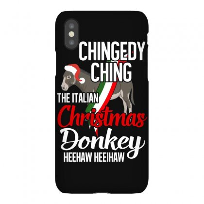 Dominick The Christmas Donkey, Italian Christmas Donkey, Merry Christm Iphonex Case Designed By Badaudesign