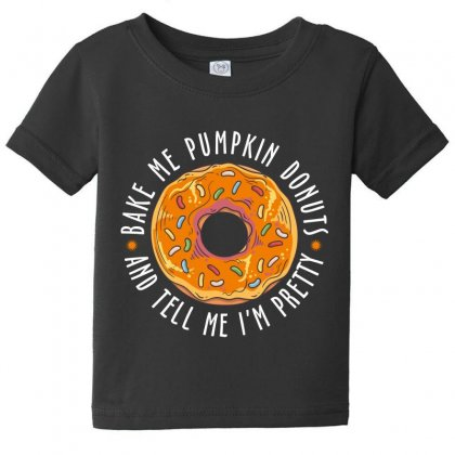 Bake Me Pumpkin Donuts Baby Tee Designed By Wizarts