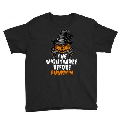 The Nightmare Before Pumpkin Youth Tee Designed By Wizarts