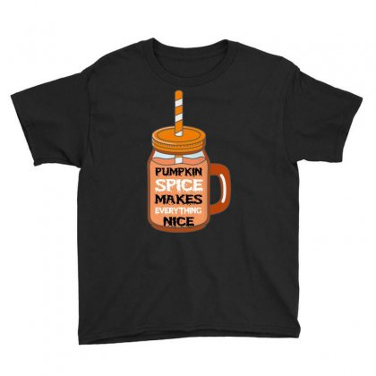 Pumpkin Spice Makes Everything Nice Youth Tee Designed By Wizarts