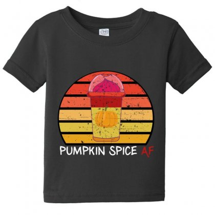 Pumpkin Spice Af Baby Tee Designed By Wizarts
