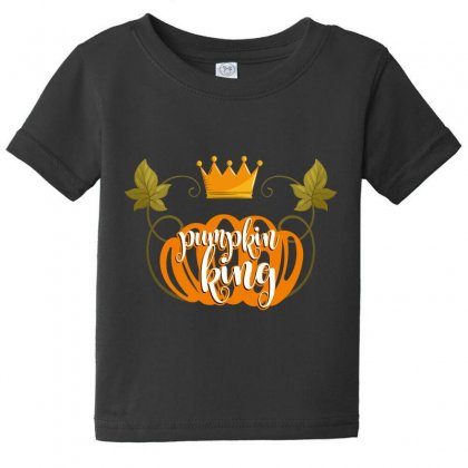 Pumpkin King Baby Tee Designed By Wizarts