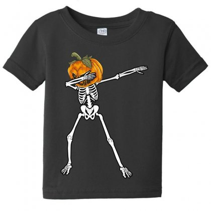 Dabbig Pumpkin Baby Tee Designed By Wizarts