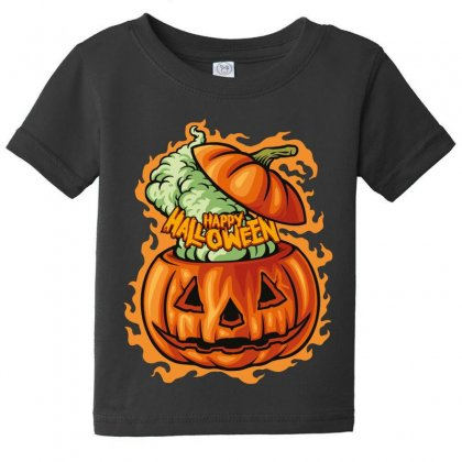 Happy Halloween Baby Tee Designed By Wizarts