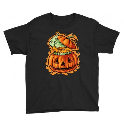 Happy Halloween Youth Tee Designed By Wizarts