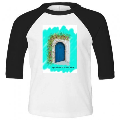 Typical Door 1 Toddler 3/4 Sleeve Tee Designed By Butterfly