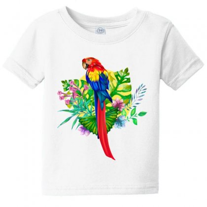 Colorful Macaw Baby Tee Designed By Tiococacola