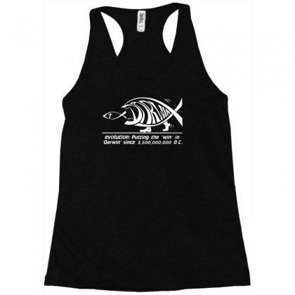 Darwin Evolution Racerback Tank Designed By Ismi