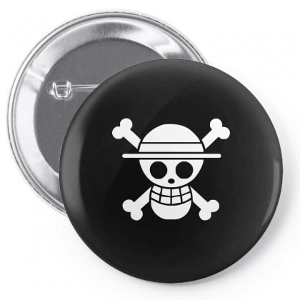 Straw Hat Crew Flag Luffy Pirates Pin-back Button Designed By Teeshop