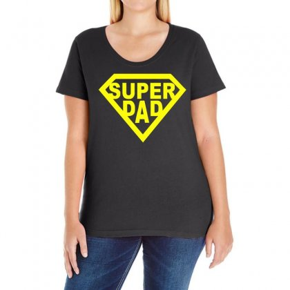 Super Dad Ladies Curvy T-shirt Designed By Teeshop