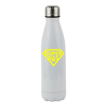 Super Dad Stainless Steel Water Bottle Designed By Teeshop