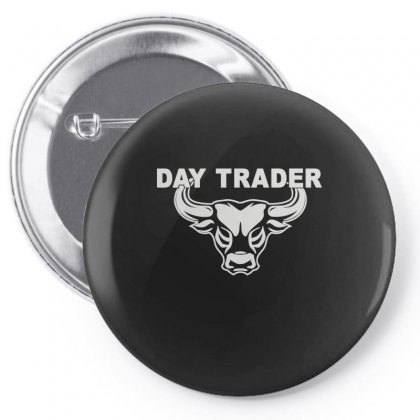 Day Trader Pin-back Button Designed By Funtee