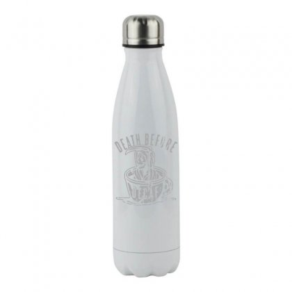 Death Before Decaf Stainless Steel Water Bottle Designed By Funtee