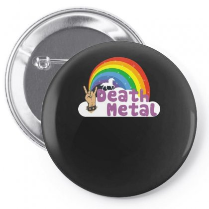 Death Metal Funny Pin-back Button Designed By Funtee