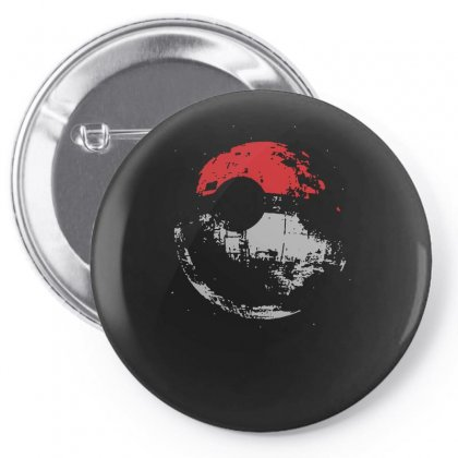 Death Star Pokeball Pin-back Button Designed By Funtee